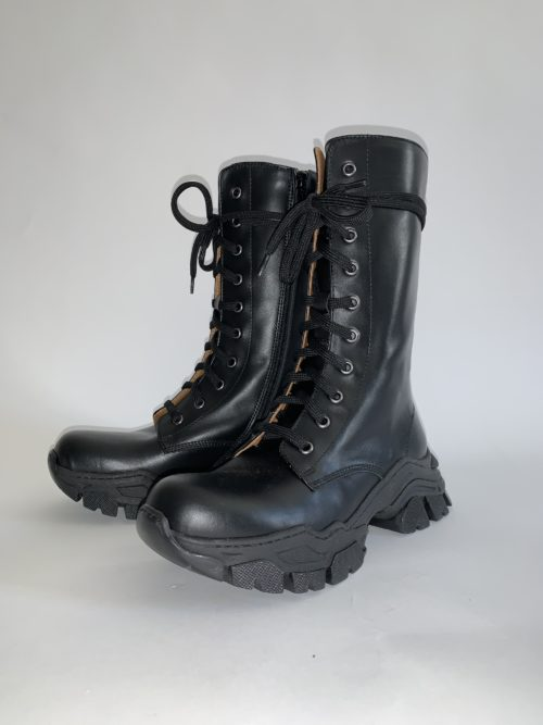 Ennequadro Vitello Nero Boot