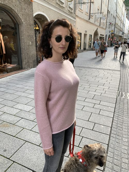 Kitted Pullover rosa 21551