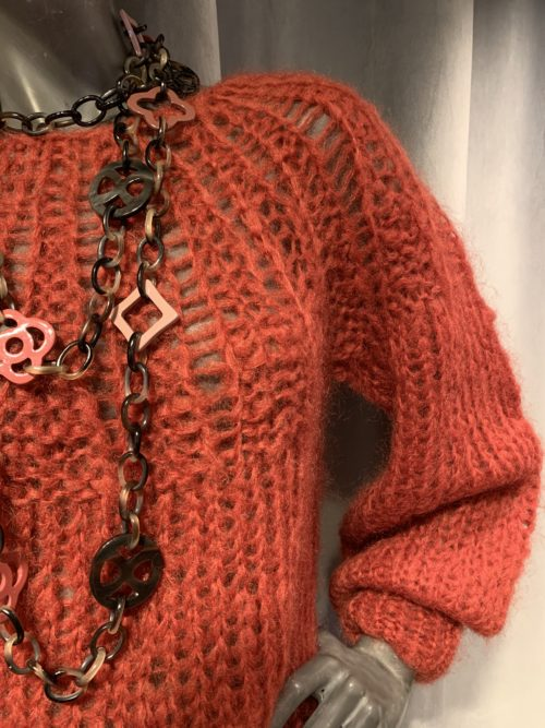Maiami Mohair Pleated Sweater