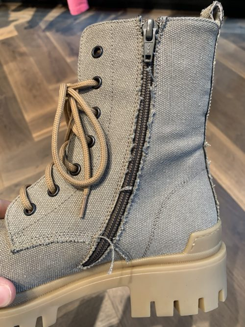 Ennequadro Canvas Beige Boot